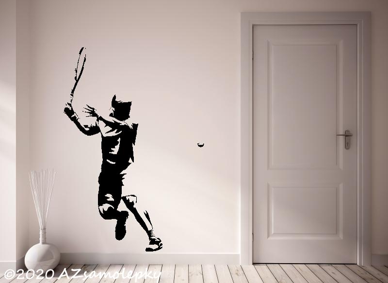 SPORT a ZÁJMY - samolepky na zeď - Samolepky na zeď - Tenista