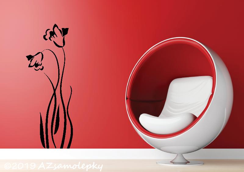 ROSTLINY - samolepky na zeď - Samolepky na zeď - Tulipán UNO