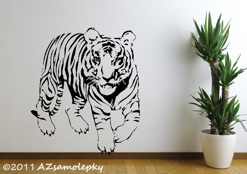 ZVÍŘATA - samolepky na zeď - Samolepky na zeď - Tygr