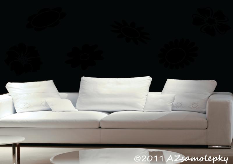ROSTLINY - samolepky na zeď - Samolepky na zeď - Velké květy