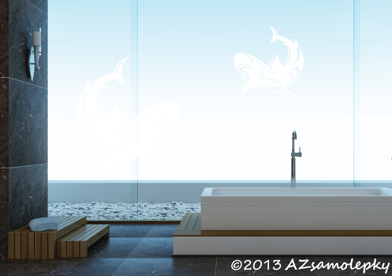 ZVÍŘATA - samolepky na zeď - Samolepky na zeď - Žraločí duo Tatoo