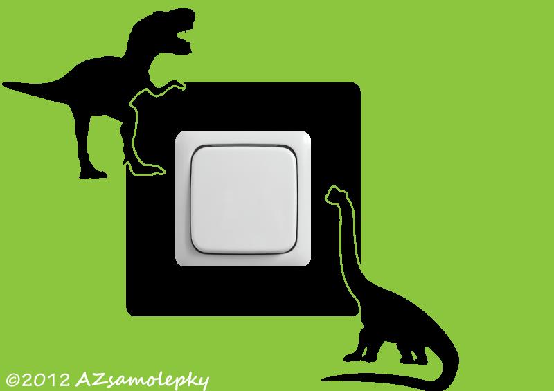 Samolepky pod VYPÍNAČ - Samolepky pod vypínač - Dinosauři I