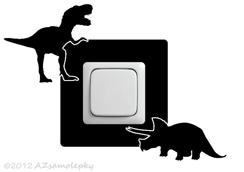 Samolepky pod VYPÍNAČ - Samolepky pod vypínač - Dinosauři III