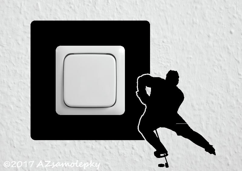 Samolepky pod VYPÍNAČ - Samolepky pod vypínač - Hokejista I
