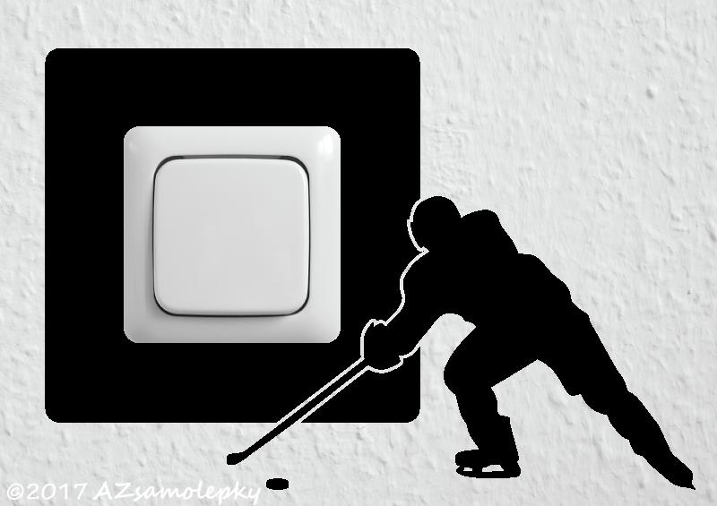 Samolepky pod VYPÍNAČ - Samolepky pod vypínač - Hokejista II