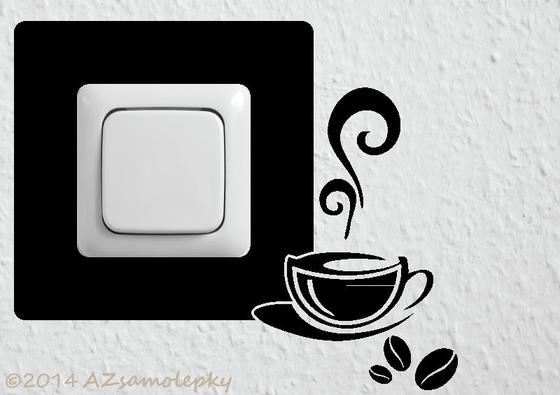 Samolepky pod VYPÍNAČ - Samolepky pod vypínač - Káva