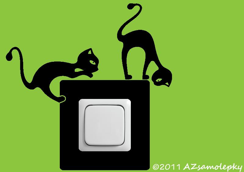 Samolepky pod VYPÍNAČ - Samolepky pod vypínač - Kočky v akci