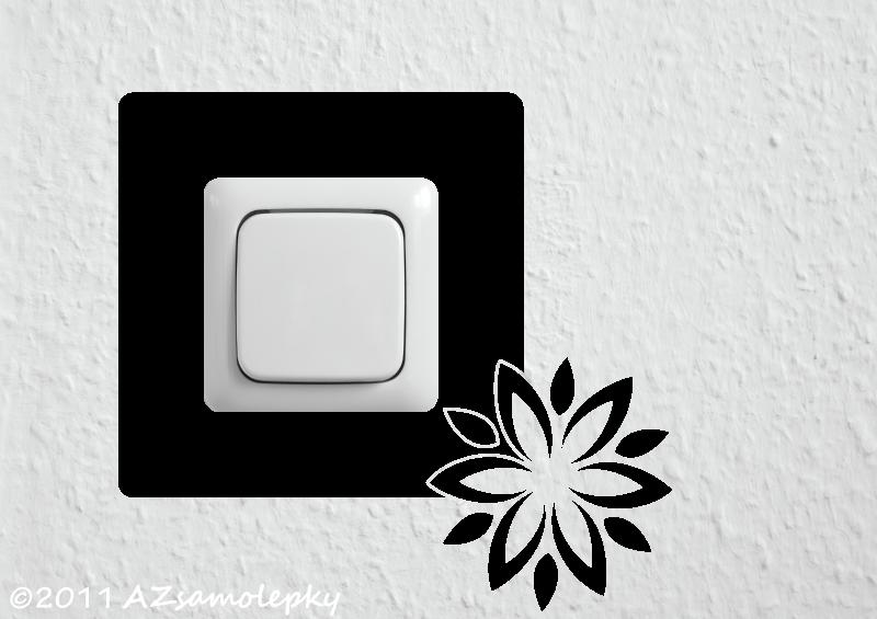 Samolepky pod VYPÍNAČ - Samolepky pod vypínač - Květina III