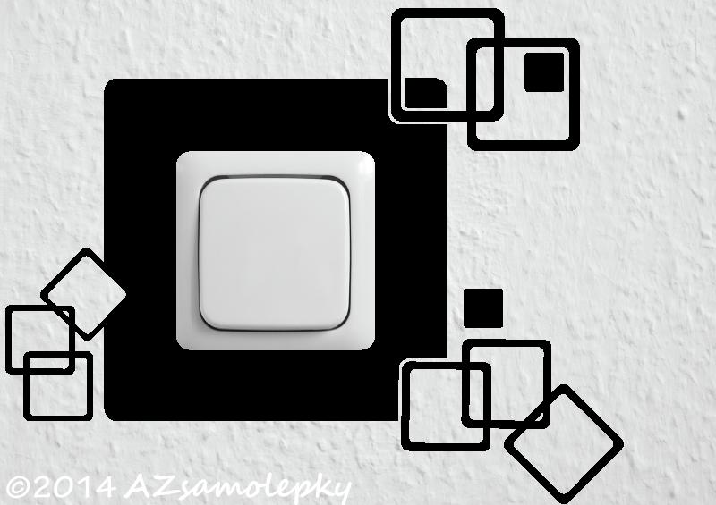 Samolepky pod VYPÍNAČ - Samolepky pod vypínač - Moderní čtverce