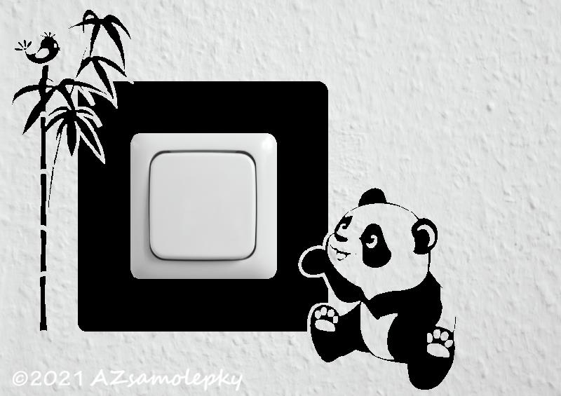 Samolepky pod VYPÍNAČ - Samolepky pod vypínač - Panda I.