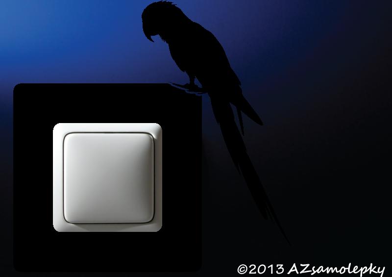 Samolepky pod VYPÍNAČ - Samolepky pod vypínač - Papoušek