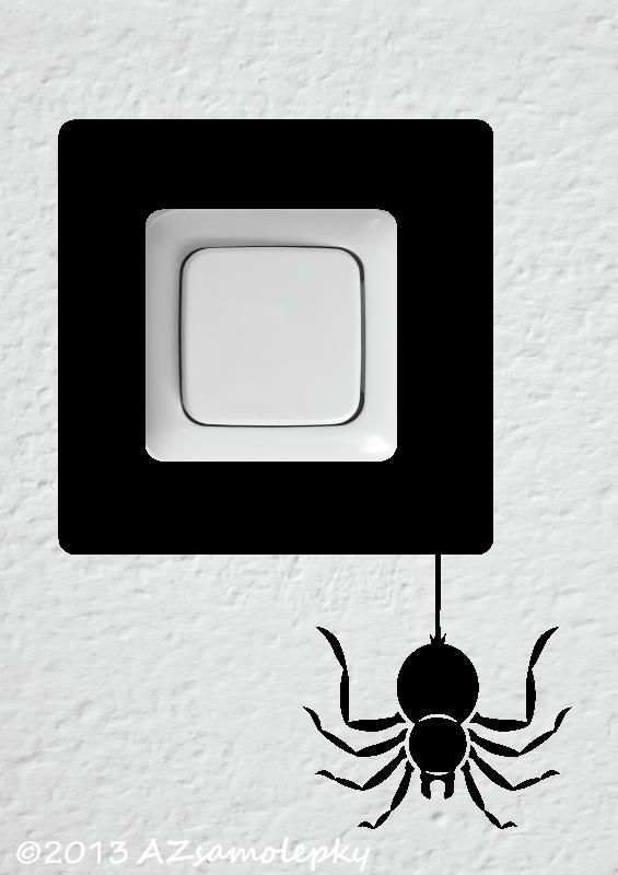 Samolepky pod VYPÍNAČ - Samolepky pod vypínač - Pavouk