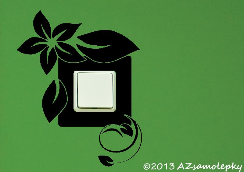 Samolepky pod VYPÍNAČ - Samolepky pod vypínač - Pnoucí květina