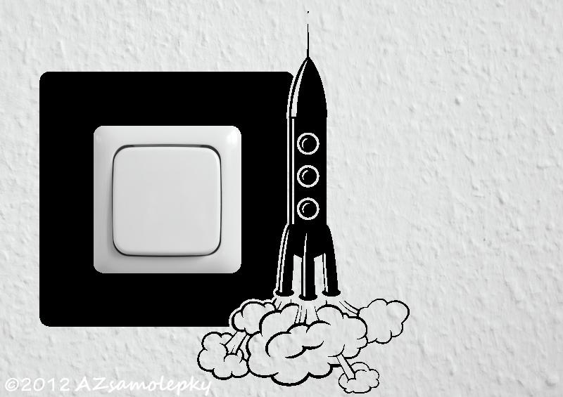 Samolepky pod VYPÍNAČ - Samolepky pod vypínač - Raketa