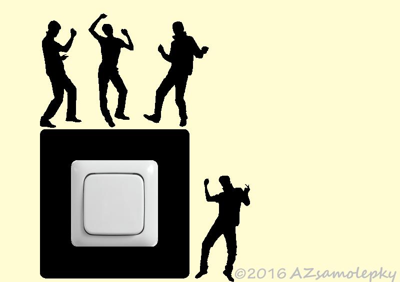 Samolepky pod VYPÍNAČ - Samolepky pod vypínač - Tanečníci