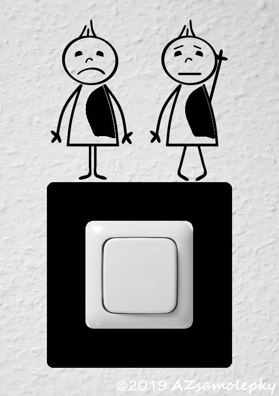Samolepky pod VYPÍNAČ - Samolepky pod vypínač - Veselé postavičky