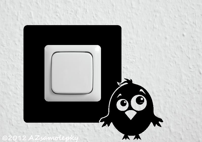 Samolepky pod VYPÍNAČ - Samolepky pod vypínač - Veselý ptáček