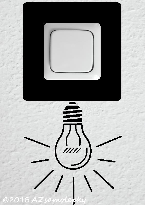 Samolepky pod VYPÍNAČ - Samolepky pod vypínač - Žárovka