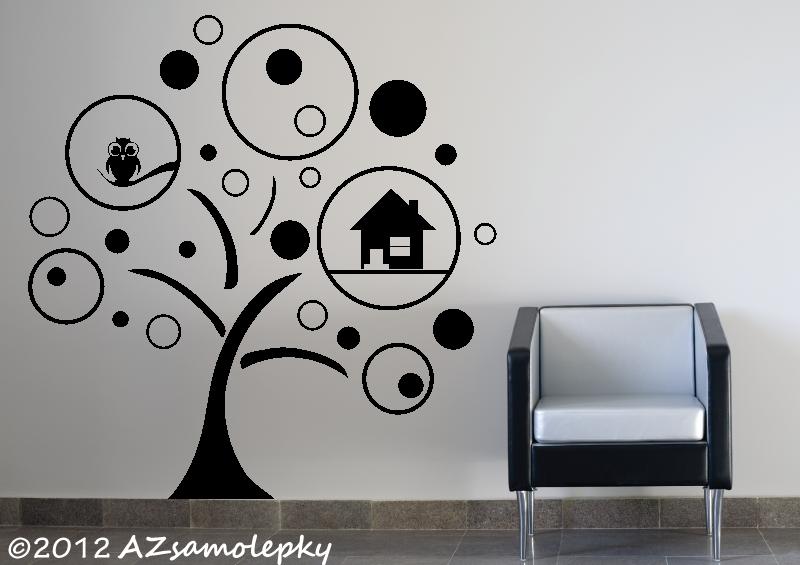 STROMY - samolepky na zeď - Samolepky na zeď - Strom s obrázkovými bublinkami