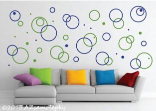 Samolepky na zeď - Moderní DUO kruhy