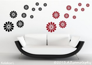 Samolepky na zeď - DUO kolekce květů I - kopretiny