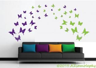Samolepky na zeď - DUO motýlci