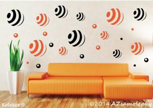 Samolepky na zeď - Pruhované DUO bubliny