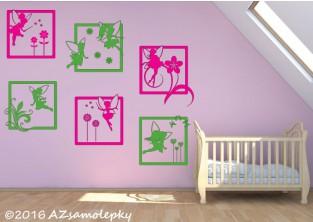 Dětské samolepky na zeď - Veselé obrázky - Luční víly