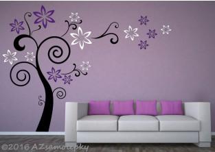Samolepky na zeď  - Květinový strom FUTURE