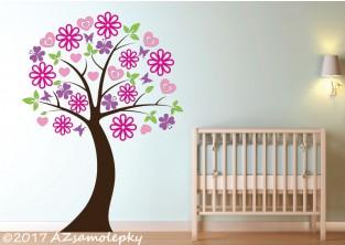 Dětské samolepky na zeď - Strom pro princezny