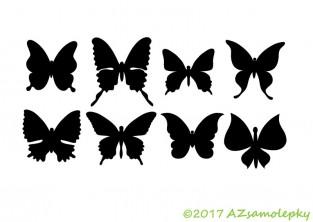 Samolepky na auto - Motýlci