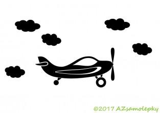 Samolepky na auto - Letadlo