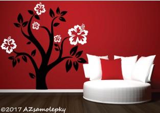Samolepky na zeď - Strom DUO Flowers
