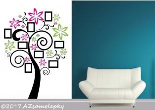 Samolepky na zeď - Květinový FOTO strom