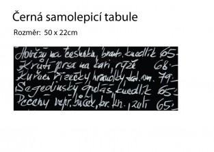 Samolepící černá tabule - 50x22cm