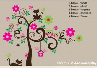 Dětské samolepky na zeď - Veselý strom