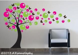 Samolepky na zeď - Bublinkový DUO strom