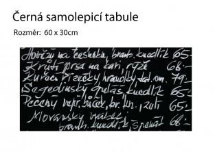 Samolepicí černá tabule - 60x30cm