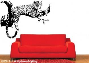 Samolepky na zeď - Jaguár na stromě