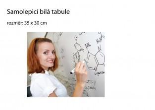 Samolepicí bílá tabule 35x30cm