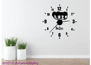 Samolepicí hodiny na zeď - Beatles