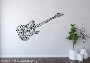 Samolepky na zeď - Kytara