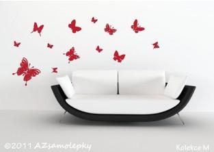 Samolepky na zeď - Motýl Ring + malí motýlci