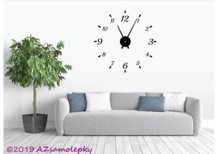 Samolepicí hodiny na zeď - Klasik