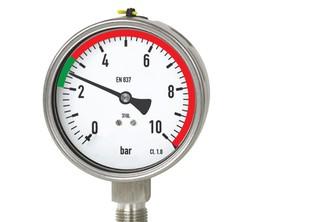 Vizuální limity na tlakoměr, teploměr