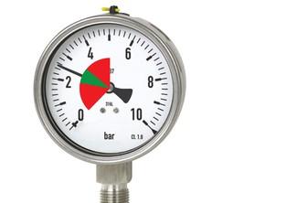 Vizuální limity na tlakoměr, teploměr / vnitřní