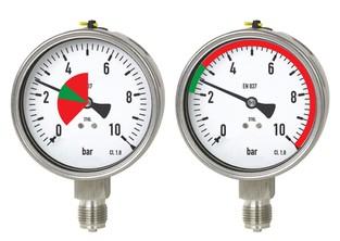 Vizuální limity na tlakoměr, teploměr - sada vnitřní/vnější