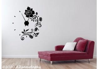 Samolepicí hodiny na zeď - Růže