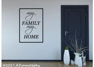 Samolepky na zeď - SO - MY FAMILY MY HOME