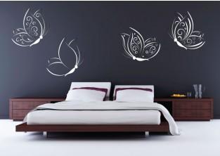 Samolepky na zeď - Ozdobní motýlci